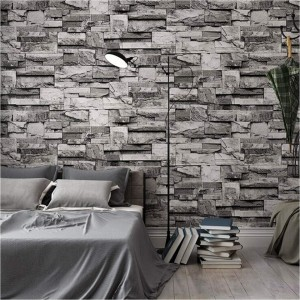 3D Faux Brick Stone Wall Mural Wallpaper