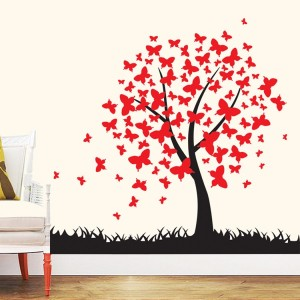 Butterfly Tree Wall Decal Stickers Vinyl Wall Art For Nursery Kids Room baby boys and girls bedroom Decoration
