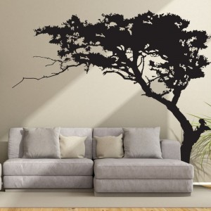 Large Black Tree Silhouette Wall Decal Vinyl Wall Art Sticker For Bedroom Living Room TV Background Wall Decor
