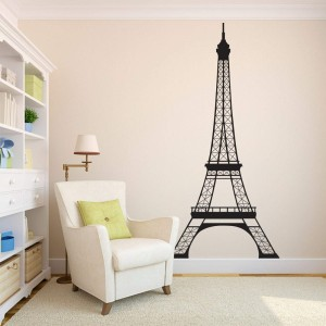 Large Eiffel Tower Wall Decal Vinyl Wall Art For Home Decor
