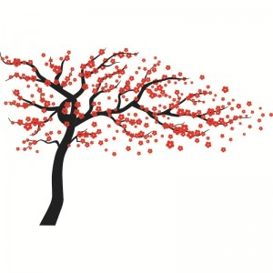 Large Plum Blossom Tree Wall Decal