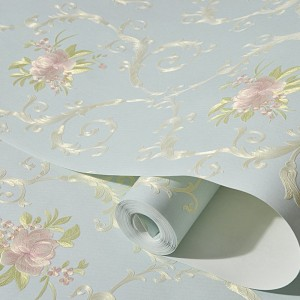 Modern Embossed Floral Damask Peel And Stick Wallpaper
