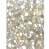 3D Pebble Pattern Static Cling Decorative Privacy Window Film Frosted Glass Film