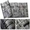 Abstract Geometric 3D Modern Industrial Metal Wallpaper