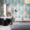 Colorful Modern Geometric Triangle Pattern Removable Wallpaper Mural