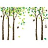 Large Birch Tree Vinyl Wall Decal With Birds And Birdcage Removable Mural Wall Stickers Diy Art Decor For Kids Bedroom Living Room Nursery