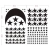 Moon And Stars Wall Decal Set Nursery Wall Art Stickers For Baby Kids Boy Girl Room Decor