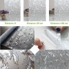 Non Adhesive Frosted Window Film Decorative Leaf Static Cling Privacy Glass Film