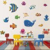 Sea Life Wall Decals Removable Under The Sea Ocean Animals Wall Stickers For Kids Room Nursery Art Decor