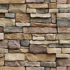 3D Faux Stacked Stone Peel And Stick Wallpaper