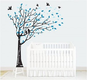 Blowing Tree Nursery Wall Decals