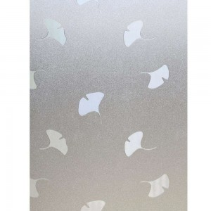 Ginkgo Leaf Pattern Window Film Decorative Frosted Glass Film