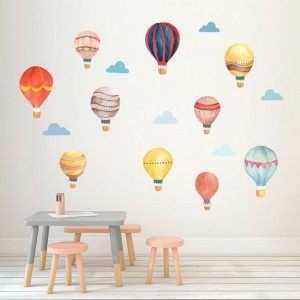 Hot Air Balloon And Cloud Nursery Wall Decals