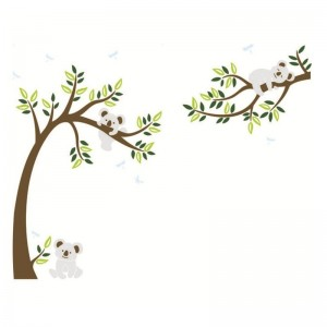 Large Koala Tree Branch Wall Decal Vinyl Wall Art Sticker For Kids Bedroom Baby Nursery Decoration