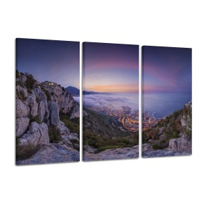 Monaco Summer Sunrise landscape photography canvas prints wall art