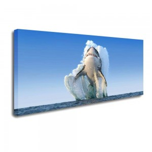 Leaping Shark Canvas Prints Wall Art