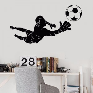 Sport Wall Sticker Soccer Goalie Football Player Goalkeeper Wall Decal Silhouette Wall Art Decoration