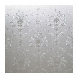 Static Cling Damask Decorative Privacy Window Film Frosted Glass Door Film