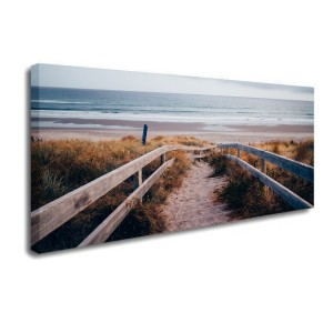 Walkway To The Beach Landscape Photography Canvas Print Modern Home Decor Wall Art