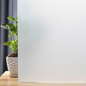 White Frosted Privacy Window Film Static Cling Vinyl Glass Frosting Film Removable Opaque Window Sticker