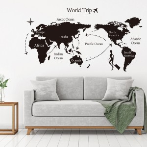 World Trip Map Vinyl Art Wall Sticker
