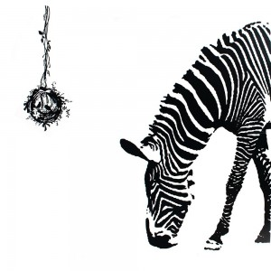 Zebra Wall Sticker Zebra Animal Print Wall Decals Mural Art Home Decor