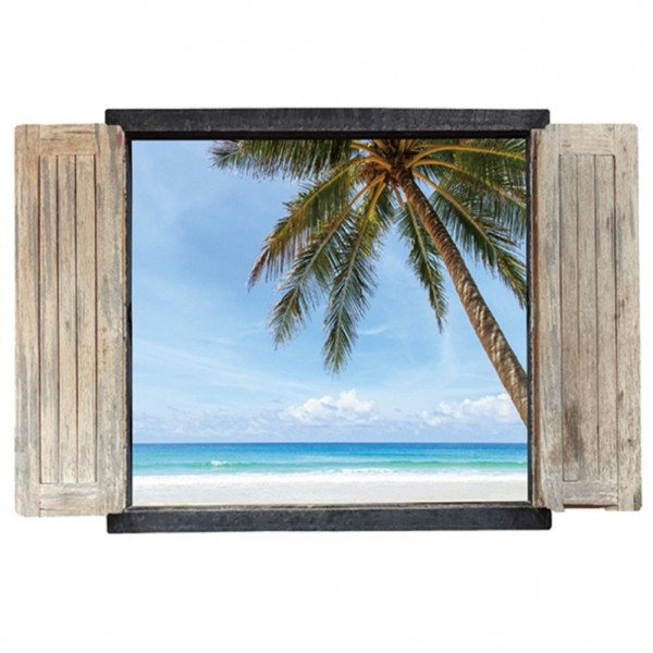 3D Window View Wall Stickers