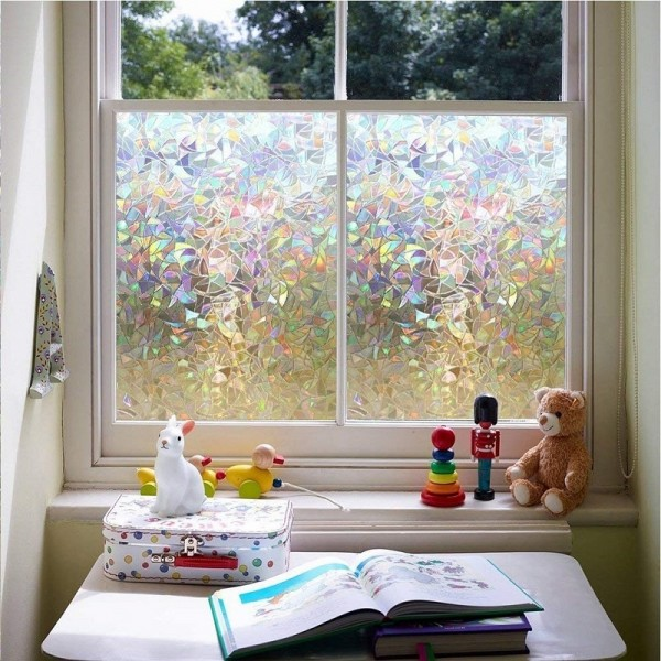 3D Decorative Static Cling Window Privacy Film Non Adhesive Glass Film For Home Living Room Kitchen Office