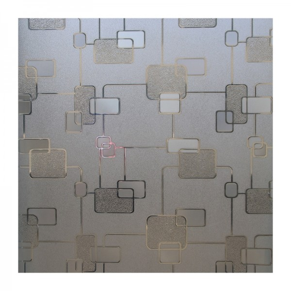 Decorative Privacy Static Cling Window Film Geometric Patterned Frosted Glass Film