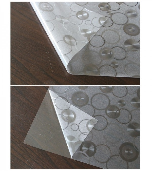 Decorative Window Film Circles Patterned Frosted Glass Film For Window Static Cling Privacy Film
