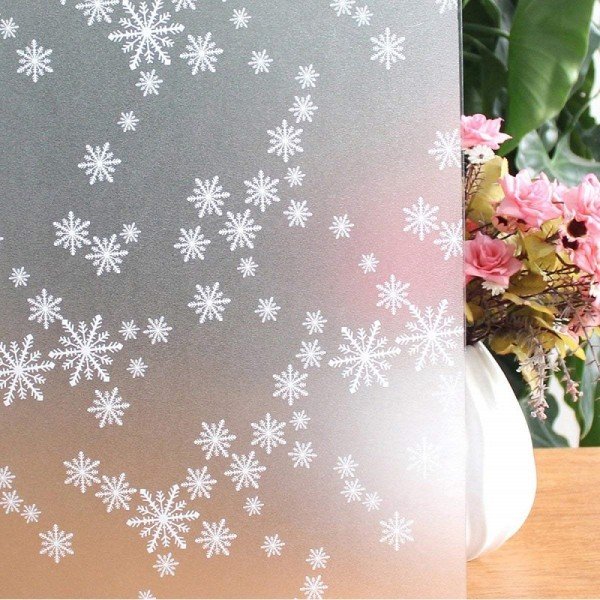 Decorative Window Film Snowflake Window Static Cling Decal Stickers Privacy Frosted Glass Window Film
