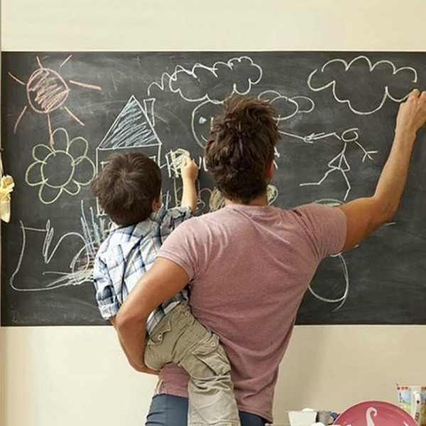 Extra Large Removable Chalkboard Vinyl Sticker Peel And Stick Wall Decal Self Adhesive Contact Paper Roll