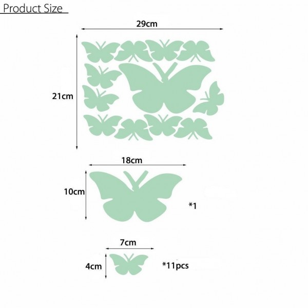 Glow In The Dark Butterfly Wall Stickers