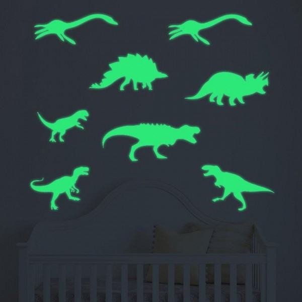 Glow In The Dark Dinosaur Wall Stickers