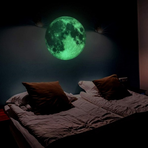 Glow In The Dark Moon Ceiling Or Wall Sticker