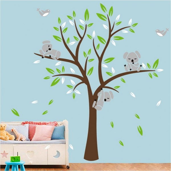 Koala Bear Tree Nursery Wall Decals