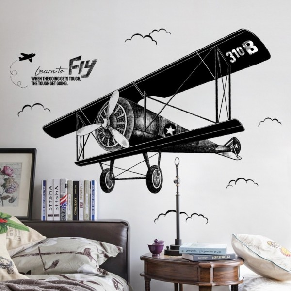 Vintage Airplane Wall Decal