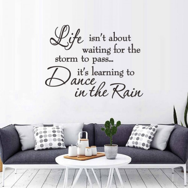 Life Quote Wall Decals Inspirational Sayings Removable Wall Art Vinyl Lettering Stickers For Home Decor
