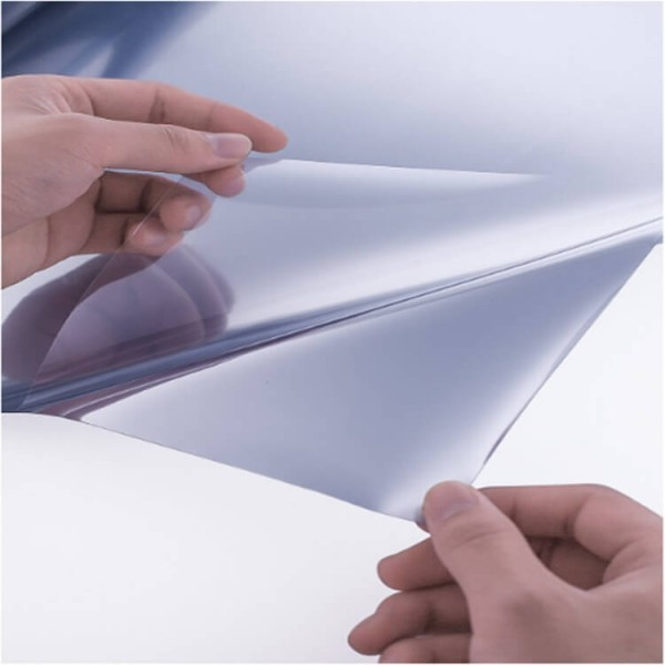 One Way Static Cling Window Mirror Tint Film Daytime Privacy Heat Control Anti UV Reflective Glass Film For Home And Office, Silver