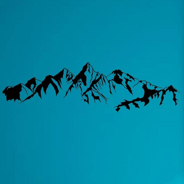 Rocky Mountain Range Wall Decals Silhouette Wall Art Mural Stickers For Room Decor