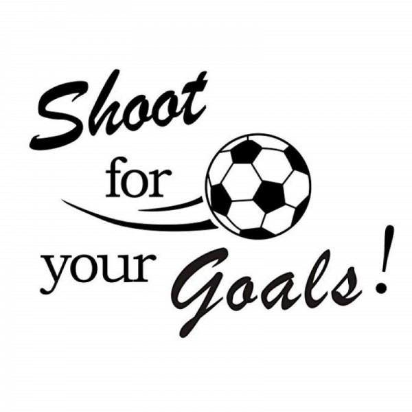 Shoot For Your Goals Football Quote Wall Decal Sport Wall Sticker For Kids Bedroom Living Room Decorations
