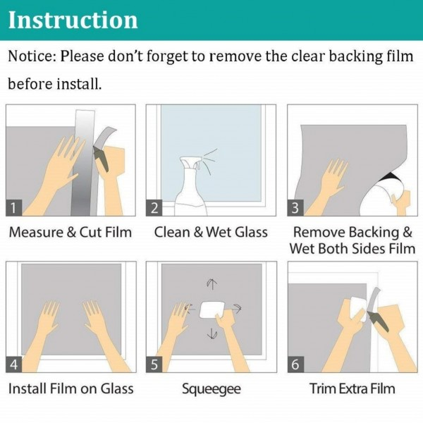 Window Film Application Instructions