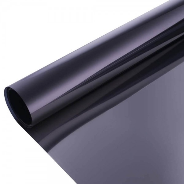 Static Cling One Way Window Mirror Film Daytime Privacy Heat Control Solar Glass Film Reflective Window Tint For Home And Office, Black & Silver