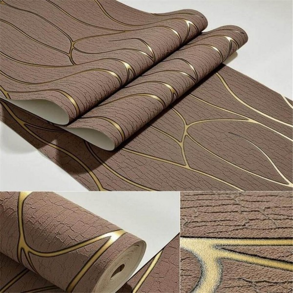 Suede Non-Woven Fabric Modern 3D Abstract Stripes Wallpaper For Home Living Room Bedroom and TV Background Wall Decoration
