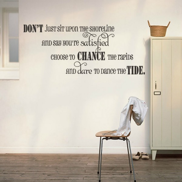 Vinyl Wall Decal Inspirational Quotes Wall Art Sticker For Home Living Room Decor